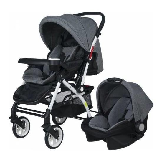 4 Baby Active Travel Sistem Bebek Arabası - Gri