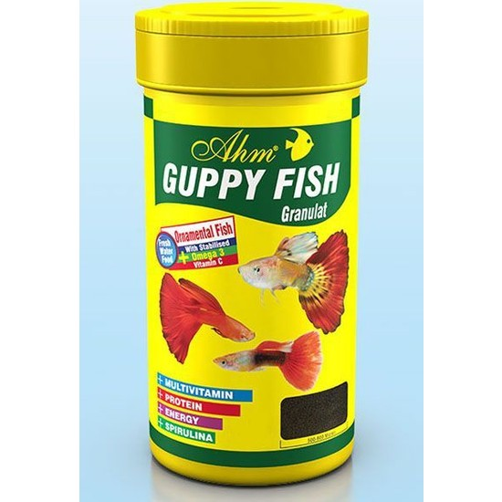 Ahm Guppy Granulat Lepistes Balık Yemi 250 Ml