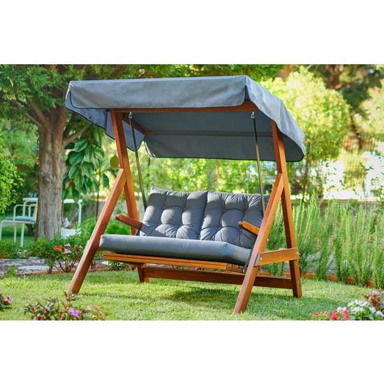 USF Katlanır Balkon Bahçe Mutfak Kamp Ahşap Masa Sandalye 3'lü Bistro Set