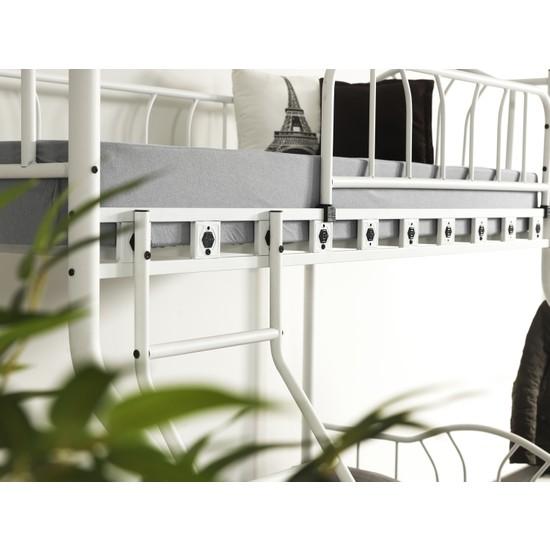 Argimo Imza 3 Kişilik Ebeveyn Metal Ranza 90 x 190 cm ve 140 x 190 cm