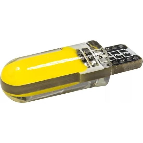 Autoline T10 W5W İç Lamba-Park-Plaka Led Ampül Sarı 2 Adet