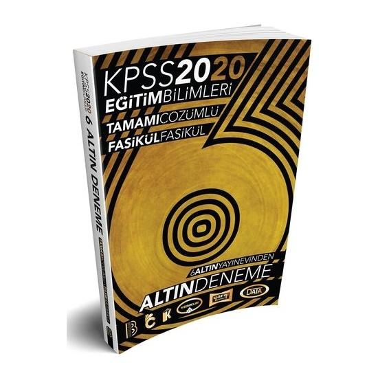 Benim Hocam Yayınları 2020 KPSS Eğitim Bilimleri 6 ALTIN Çözümlü Fasikül Deneme