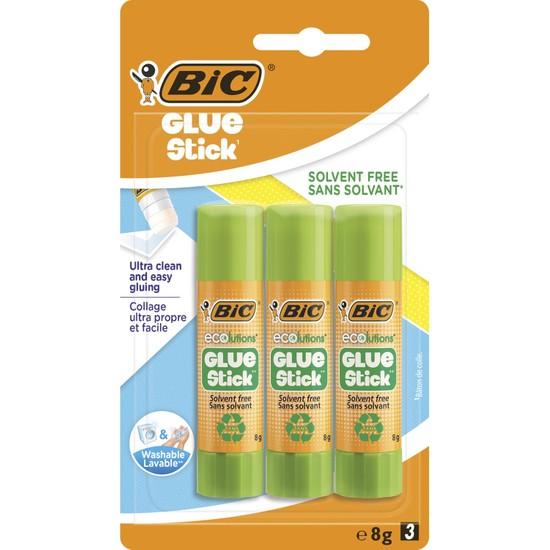 Bıc Eco Glue Stick Yapıştırıcı 8 gr Blister 3'lü