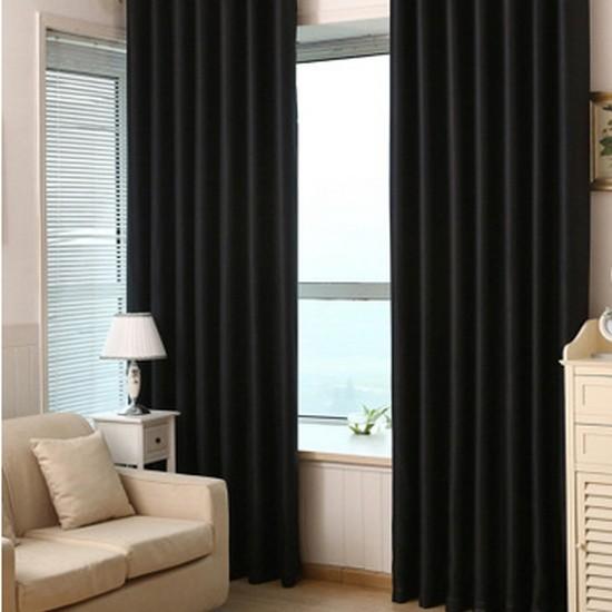Brillant Blackout Karartma Güneşlik Perde Pilesiz Siyah - 100x200 cm