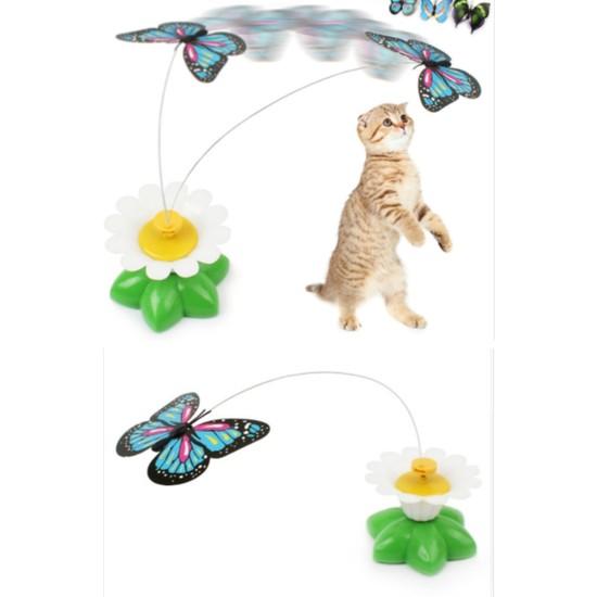 Buffer Hareketli Dönen Kelebek - Kedi Oyuncağı ( Pille Çalışır)