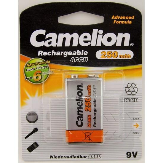Camelion 9V 250Mah Şarjlı Pil