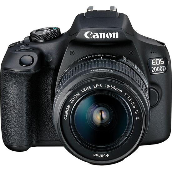 Canon EOS 2000D + EF-S 18-55mm f/3.5-5.6 IS II Fotoğraf Makinesi (Canon Eurasia Garantili)