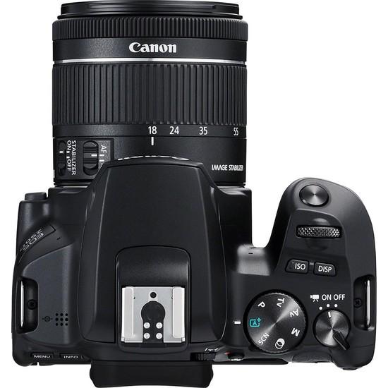 Canon EOS 250D + EF-S 18-55mm f/4-5.6 IS STM Siyah Fotoğraf Makinesi (Canon Eurasia Garantili)