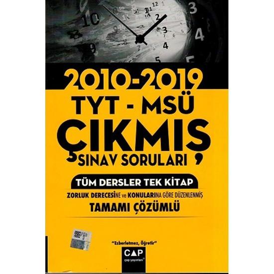 Çap Yayınları Tyt Msü Tüm Dersler Tek Kitap Tamamı Çözümlü Çıkmış Sınav Soruları