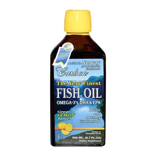 Carlson Fish Oil 200Ml Balık Yağı Şurubu (Limon Ar