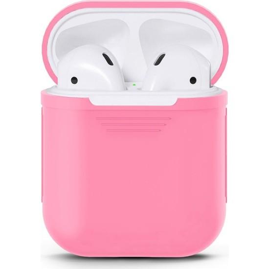 Case 4U Apple Airpods Silikon Kılıf Pembe