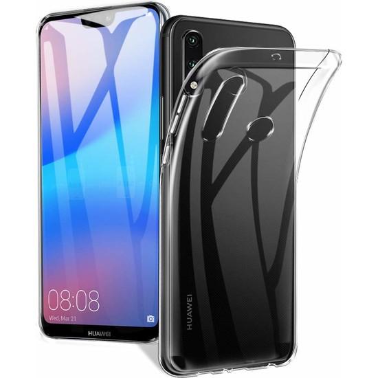 Case 4U Huawei P30 Lite Kılıf Süper Silikon Arka Kapak Şeffaf