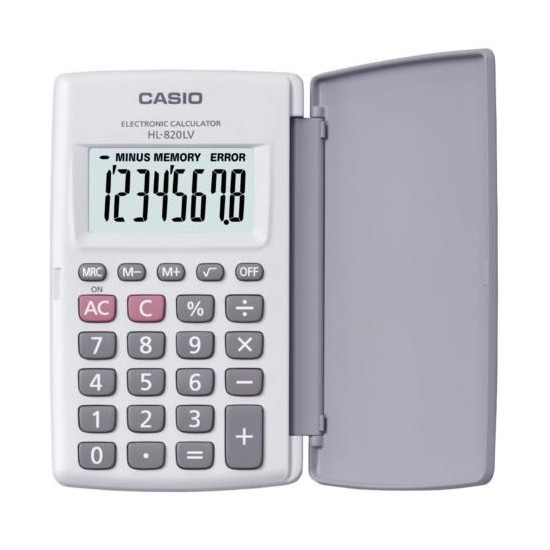 Casio HL-820LV-WE Cep Tipi 8 Hane Hesap Makinesi