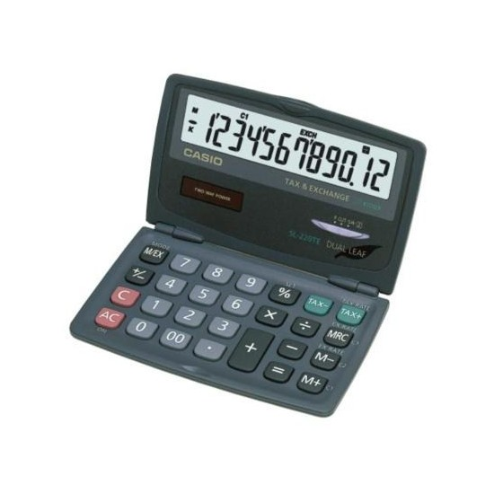 Casio SL-220TE Cep Tipi 12 Hane Hesap Makinesi