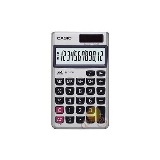 Casio SX-320P Cep Tipi 12 Hane Hesap Makinesi