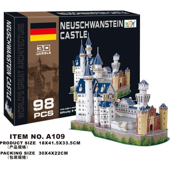 Cc Oyuncak 3D Puzzle Neuschwanstein Castle - 98 Parça