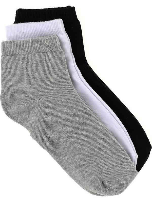Çekmece 12'Li Paket Ekonomik Erkek Patik Çorap Siyah