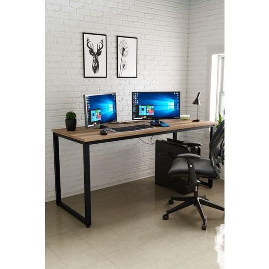 Ceramical 60 x 160 cm Çalışma Masası Bilgisayar Masası Ofis Masası - Sakremento Meşe