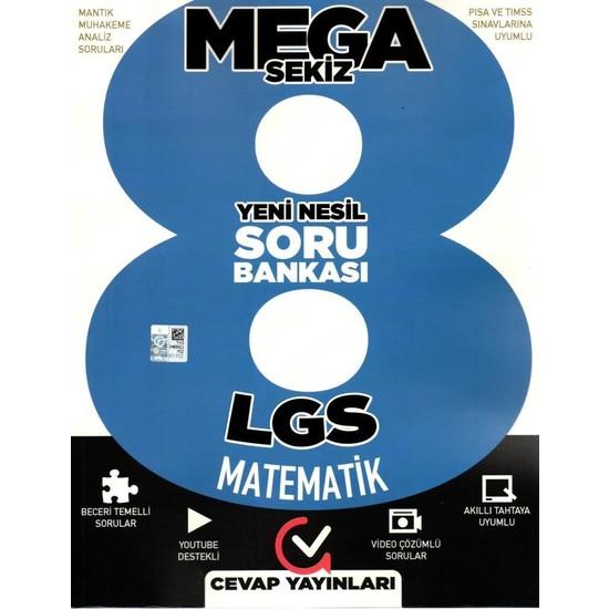 Cevap Yayınları 8. Sınıf Mega Sekiz Yeni Nesil Matematik Soru Bankası