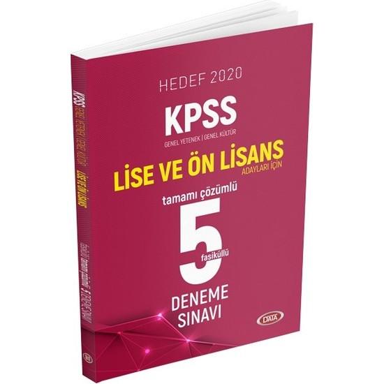 Data Yayınları KPSS Lise ve Ön Lisans Tamamı Çözümlü 5 Deneme Sınavı Hedef 2020
