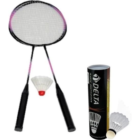 Delta 2 Adet Badminton Raketi & 7 Adet Badminton Topu Oyun Seti