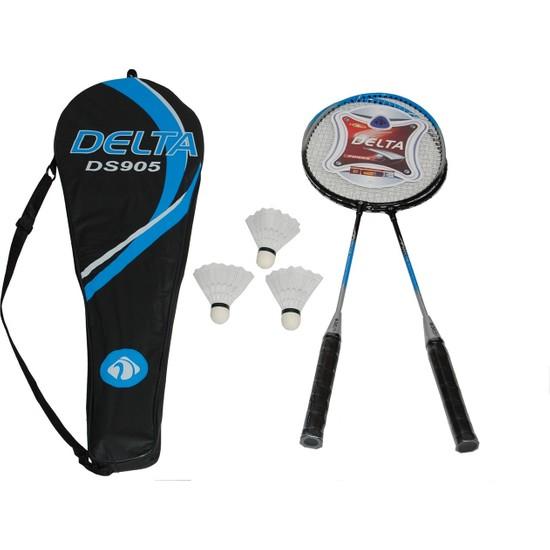Delta 2 Badminton Raketi 3 Badminton Topu Çantalı Çiftli Set