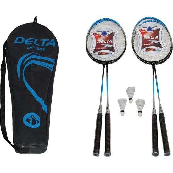 Delta 4 Badminton Raketi 3 Badminton Topu Çantalı Grup Seti