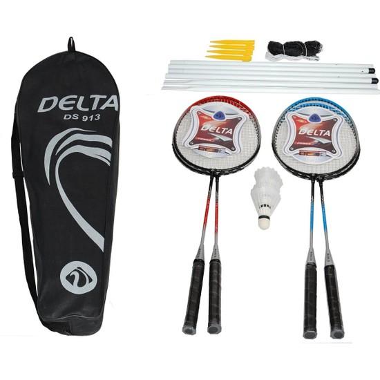 Delta 4 Badminton Raketi 3 Badminton Topu File & Demir Full Set