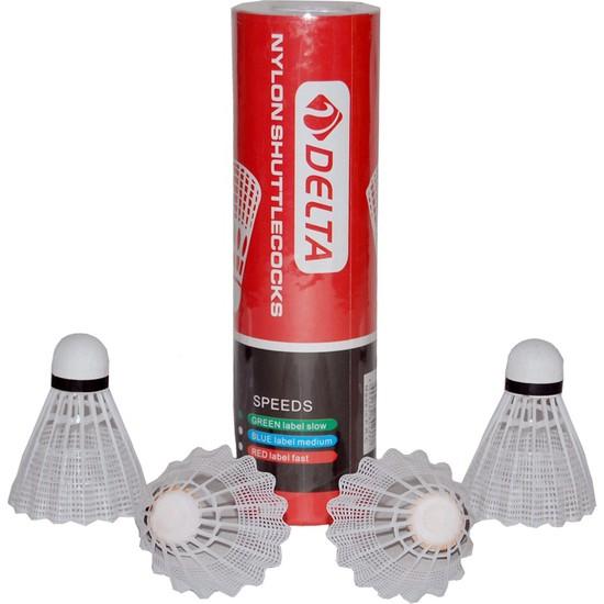 Delta Badminton 6 Adet Mantar Başlı Beyaz Badmington Topu