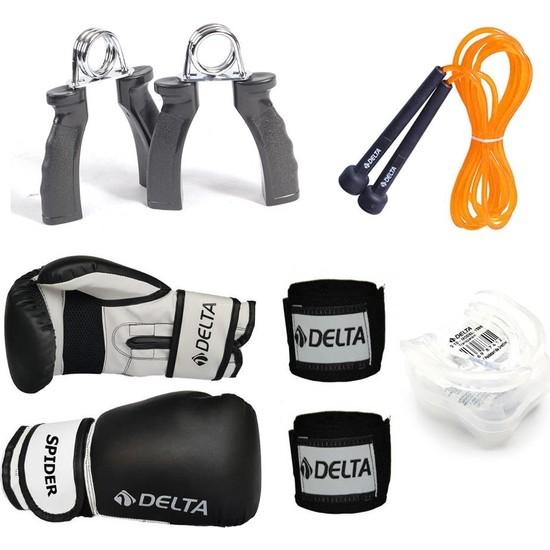 Delta Fist Boks Seti Boks Eldiveni - El Bandajı - Atlama İpi - Dişlik - El Yayı