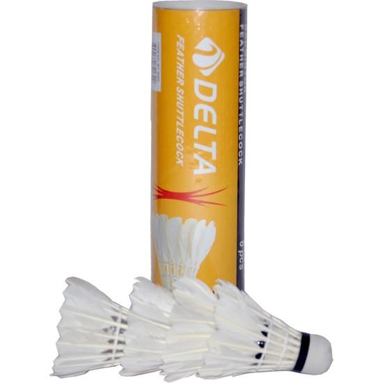 Delta Özel Kaz Tüyü Pratik Kutusunda 6 Adet Badminton Topu