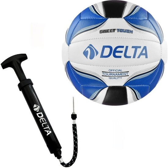 Delta Rivo Voleybol Topu + Çok Fonksiyonlu Top Şişirme Pompası