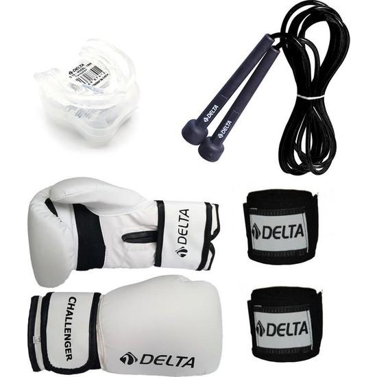 Delta Stron Boks Seti (Boks Eldiveni - El Bandajı - Atlama İpi - Dişlik)
