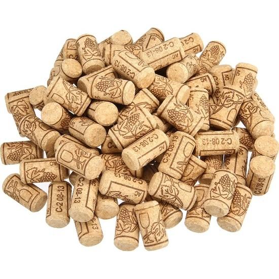 Dünya Magnet Şişe Mantarı 20 Adet Doğal Mantar Tıpa - Şarap Şişesi Mantar Tıpası
