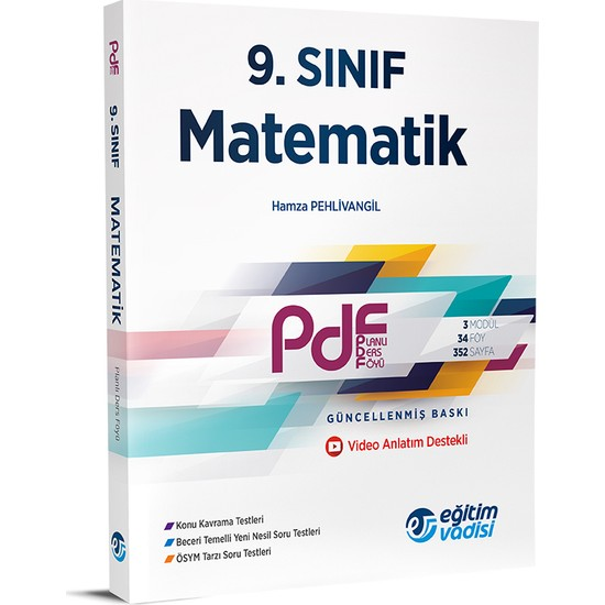 Eğitim Vadisi 9.Sınıf PDF Matematik Video Anlatım Destekli