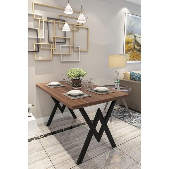 Evdemo Parla Mutfak Yemek Masası Ceviz