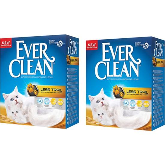 Ever Clean Less Trail(Patilere Yapışmayan) Kum 10 Lt x 2 Adet