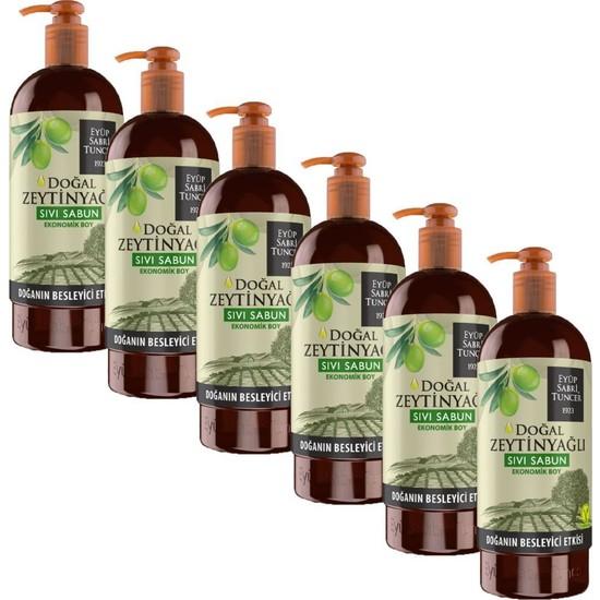 Eyüp Sabri Tuncer Doğal Zeytinyağlı Sıvı Sabun 750 ml x 6 Adet
