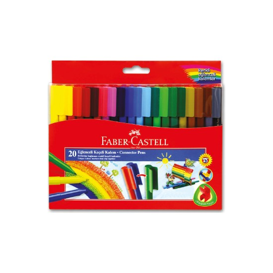 Faber-Castell Eğlenceli Keçeli Kalem 20 Renk