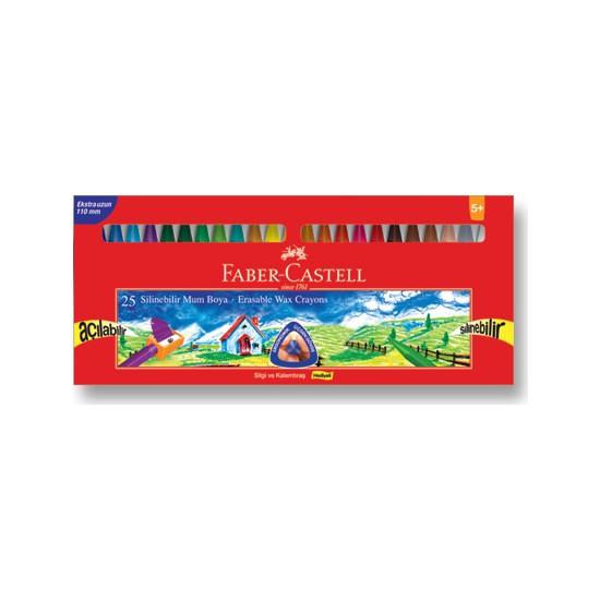 Faber-Castell Silinebilir Mum Boya 25 Renk