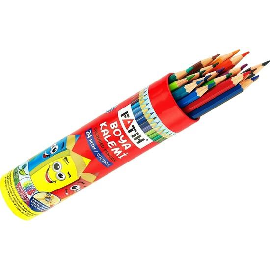 Fatih 12 Renk Tam Boy Metal Tüp Kuru Boya (33114)