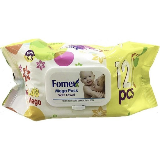 Fomex Islak Mendil 120' li Mega Pack