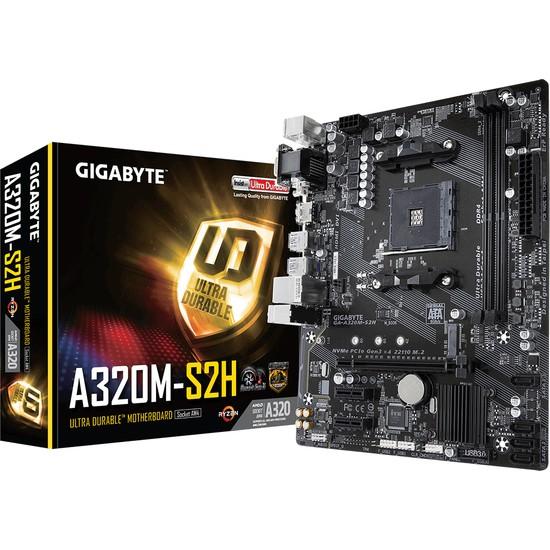 Gigabyte A320M-S2HAMD A320 3200Mhz(OC) DDR4 Socket AM4 PCI-E Anakart