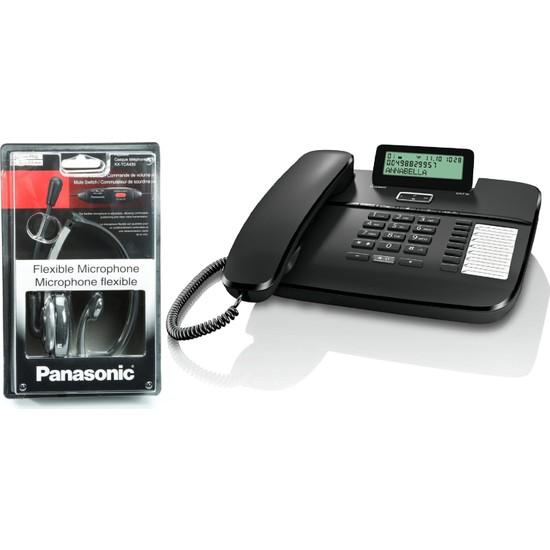 Gigaset DA710 Masaüstü Telefonu ve Panasonic KX-TCA430 Mikrofonlu Kulaklık Seti