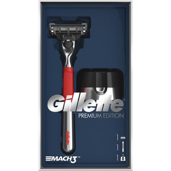 Gillette Mach3 Makine + Manyetik Stand Red Edition