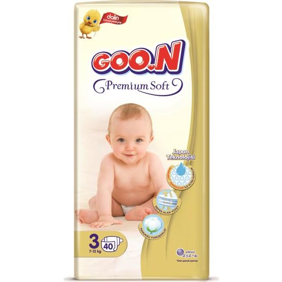 Goon Bebek Bezi Premium Midi 3 No 40 Lı x 4