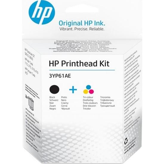HP Printhead Kit Renkli+Siyah Baskı Kafası 3YP61AE