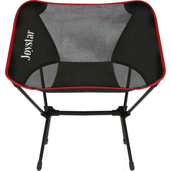 Joystar Kamp Sandalyesi Pratik Çantalı Plaj Sandalyesi Kırmızı