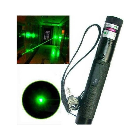 Kama Yeşil Lazer Pointer Şarjlı Kilitli Zoom Yakıcı 1000Mw