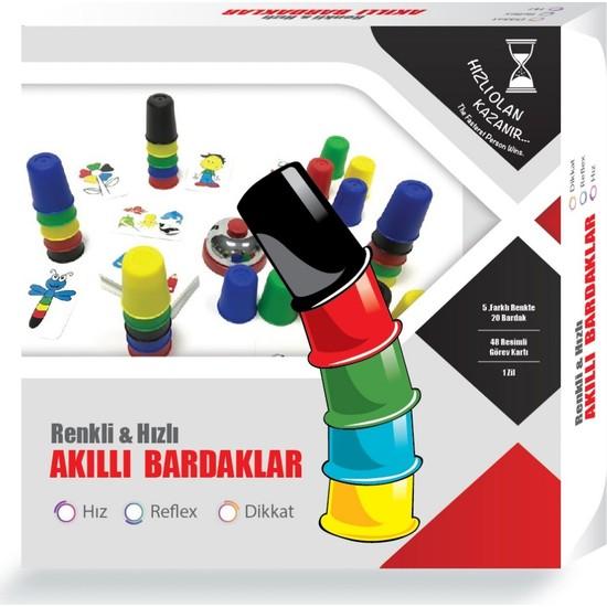 Kdd Renkli ve Hızlı Süper Pratik Akıllı Bardaklar Eğitici Zeka Oyunu Çocuk ve Aile Kutu Oyunu